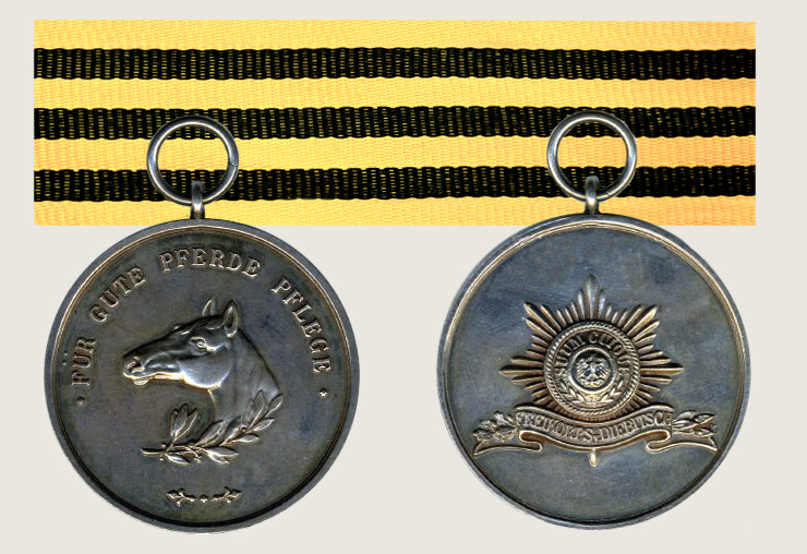 Medal for Good Horse Care 1