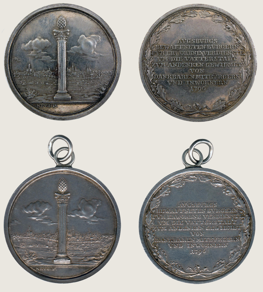 Augsburg Civic Militia  Commemorative Medal 1