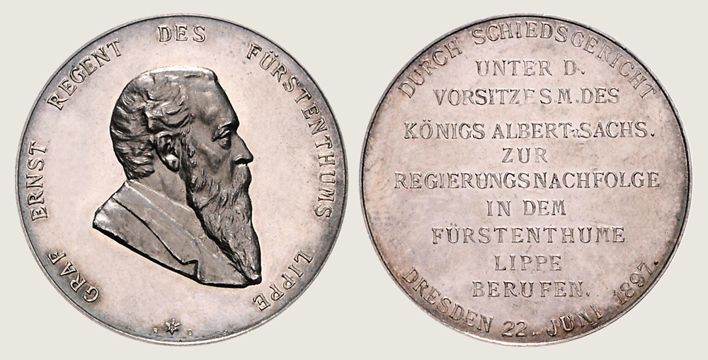 Medal Commemorating Count Ernst Being Appointed Regent 1