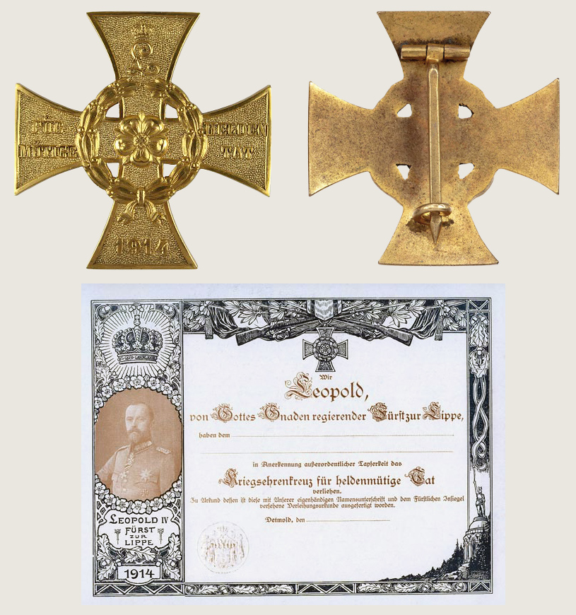 War Honor Cross for Heroic Deeds 1