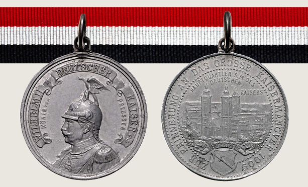 1909 Grand Imperial Manoeuvres Commemorative Medal 1