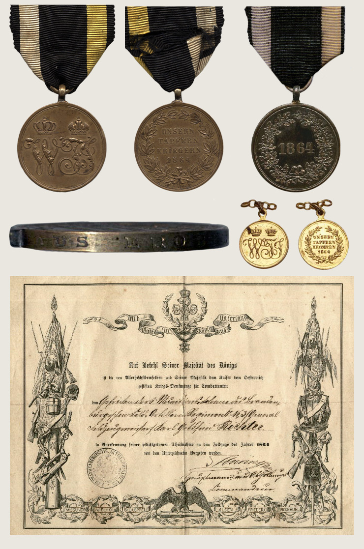 Commemorative Medal 1864 1