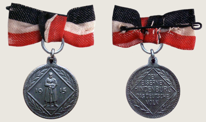 Iron Hindenburg Commemorative Medal 01
