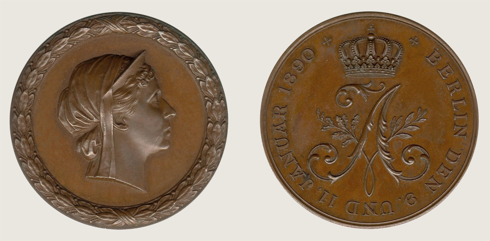 Queen Augusta Commemorative Medal 1