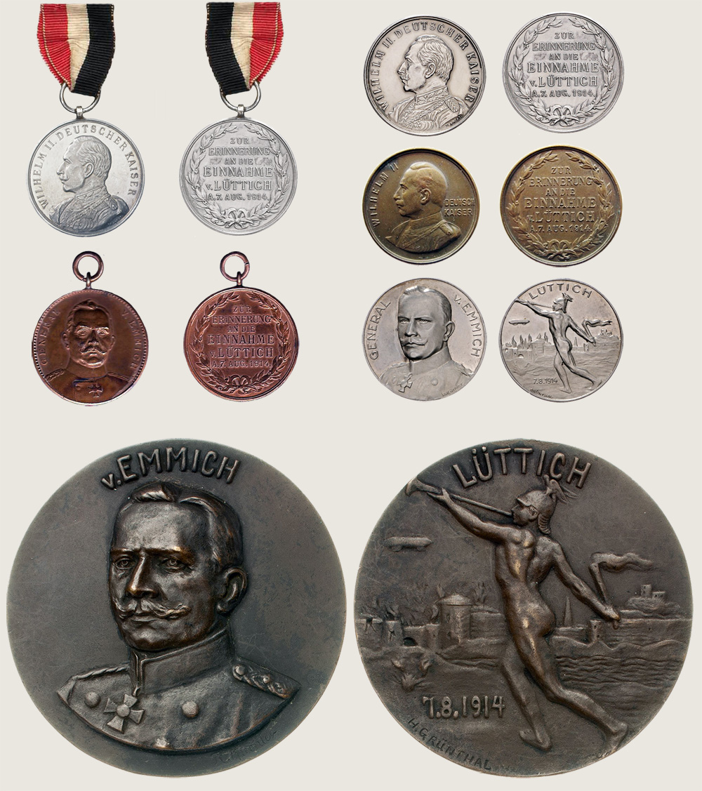 Tinnies and medals in Commemoration of capture of Liege 1