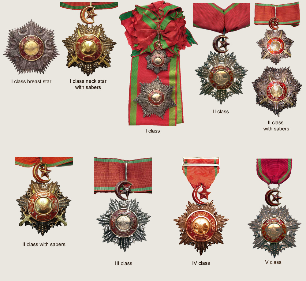 Recipients Of The Order Of The Medjidieh
