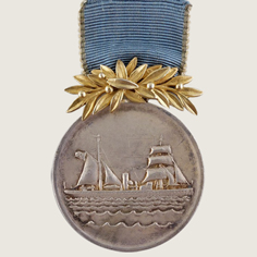 German Atlantic Meteor Expedition Medal main
