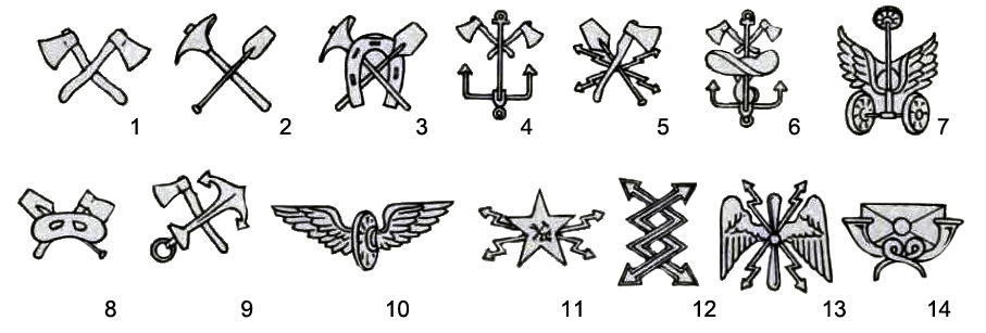 1936 RKKA Collar Branch Badges 1