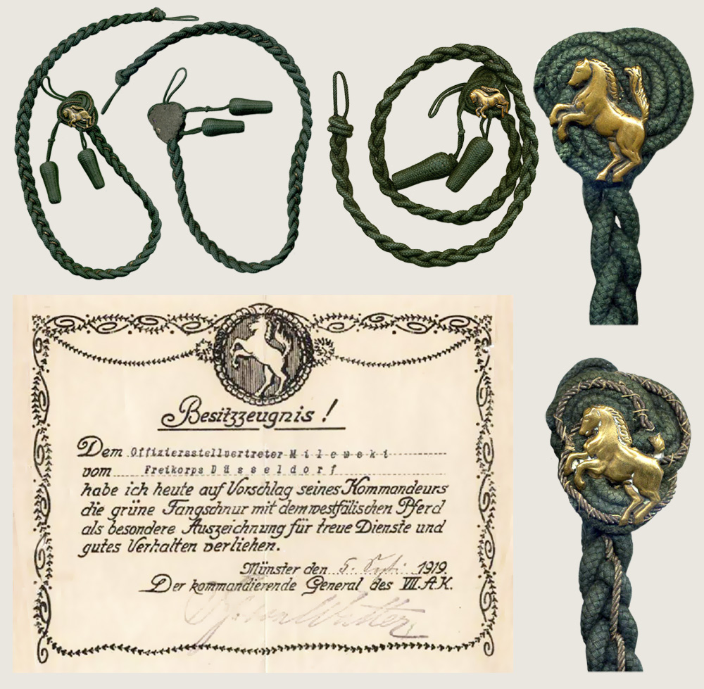 Green Aiguillette with Westphalian Horse 1
