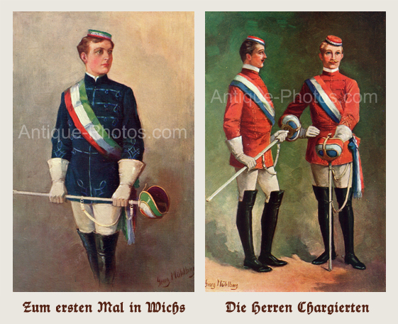 Antique Photos - Uniforms and Traditions of German Student Fraternities